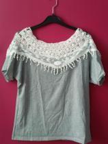 b4424d16 97% OFF] Lace Cutout Shirt Women Handmade Crochet Cape Collar ...