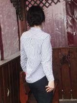 Реально на блузке нет абсолютно никаких изъянов, даже нитки нигде не торчат. Она очень комфортная и уютная. Некого шарма ей придает красивая шнуровка на груди. Я думаю, что такая блузка может сочетается со многими вещами. Когда станет теплее, то начну носить ее с шортами. Единственный минус в ней - рукава. Я бы хотела, чтобы они быль хоть чуток длиннее.